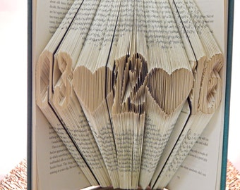 Wedding Date Folded Book Art