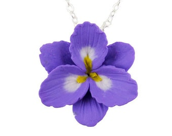 Purple Freesia Necklace - Freesia Jewelry
