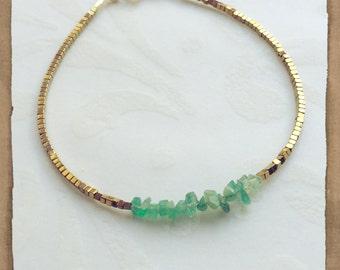 May Birthstone Bracelet Personalized Bracelet Emerald Bracelet Emerald Birthstone Bridesmaids Gift May Anniversary