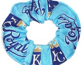 Kansas City Royals Hair Scrunchie Scrunchies by Sherry MLB Baseball Cotton Fabric