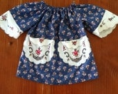 ON SALE Violet Smock Frock - Vintage Fabric - Size 2
