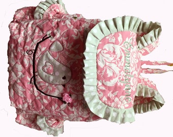 This is NOT a Backpack Listing it is the ADDED COST For CUStOM QUILtiNG the FABRiC on my Design Your Own Toddler GiRL Backpack ReAd BeLoW