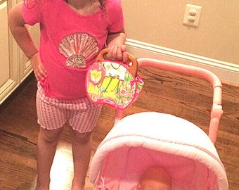 Little Girls Bermuda Bags PLEASE READ the DESCRiption Below CUSTOM Handmade