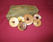 Six Handcrafted Stocking Stuffer Wooden Spinning Tops