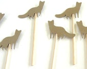 Kraft Wolf Cupcake Toppers - Set of 12 Toppers