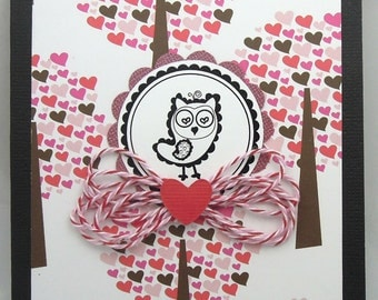 Owl-y Love - Handmade Valentine/Anniversary/Love Greeting Card