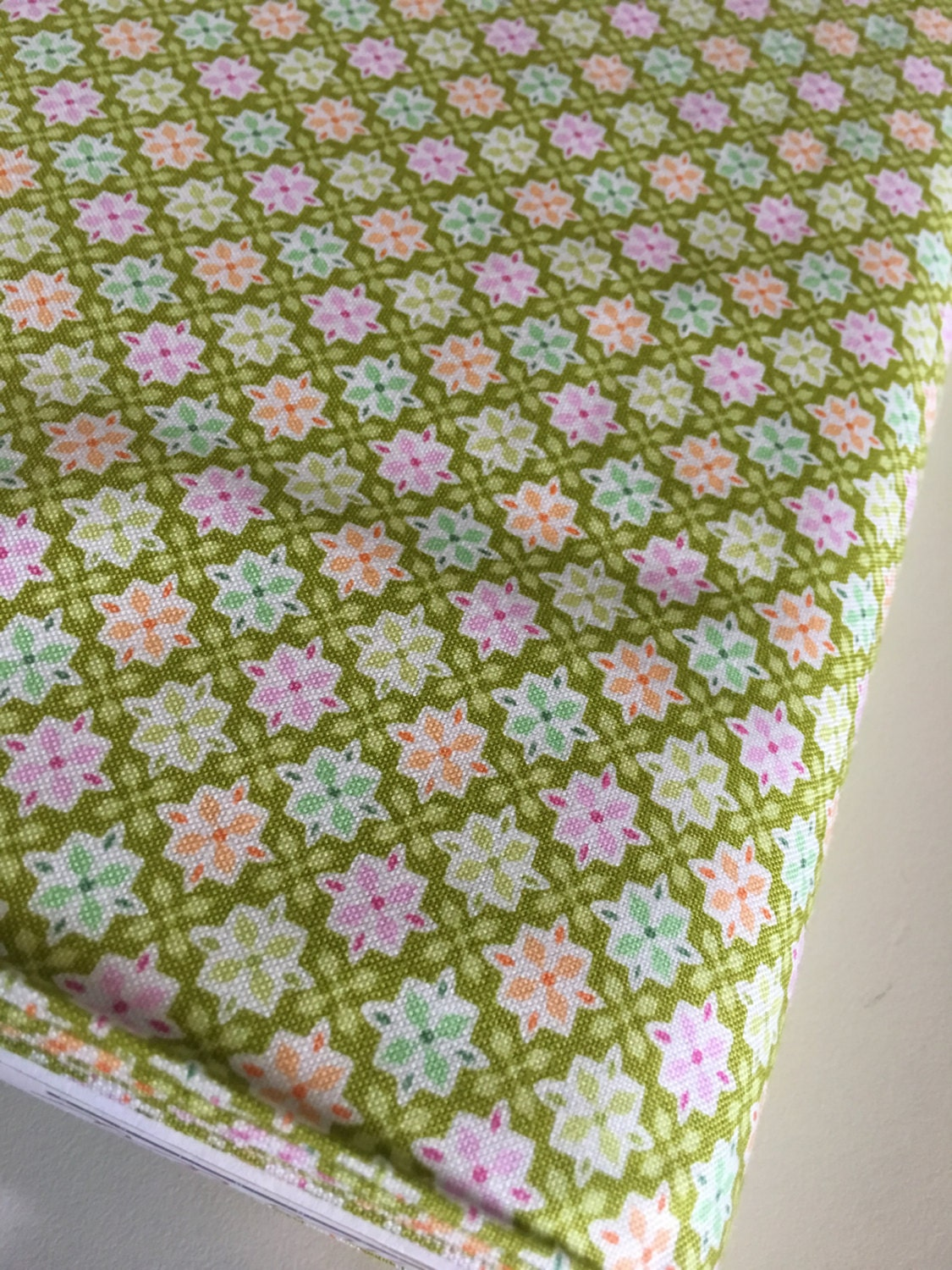 Sale fabric 6 dollars yard discount fabric green for Cheap baby fabric