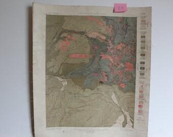 1900s Colorado La Plata Quadrangle Area Historical Geology Sheet map