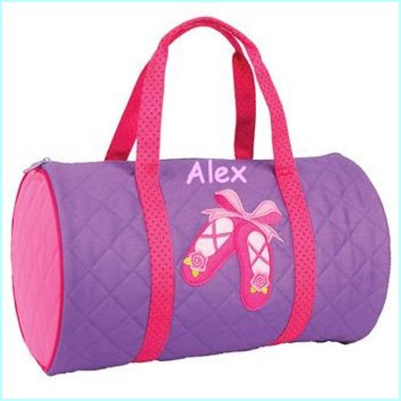 Personalized Ballet Duffle Bag, Overnight Bag, Weekender Bag, Monogramed Bag, Childs Bag, Diaper Bag, Sports Bag, Sleep over bag, Kids Gift