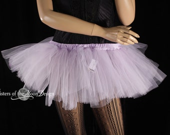 Ready to ship Adult tutu tulle skirt micro mini lavender ballet costume go go dance race run event club rave - XXlarge - Sisters of the Moon