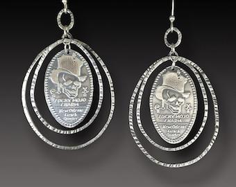 New Orleans French Quarter Sterling Earrings Lucky Mojo Charm Earrings