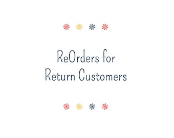 NEW - For ReOrders - ALL Returning Customers Can Just Order Here - Sweet Deals With Lower Minimums AND Discounts for Larger Orders