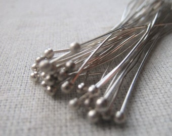 Silver Plated Headpin 22 Gauge 3 Inch Headpin Item No. 8768