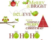 Christmas Clip art - Christmas Titles for card making, scrapbooking