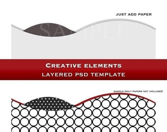 Layered Photoshop Template design element -  (2)