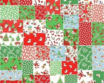"Windham STORYBOOK CHRISTMAS Precut 5"" Fabric Quilting Cotton Squares Whistler Studios"