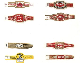 120 CIGAR BAND Labels -new old stock cigar bands