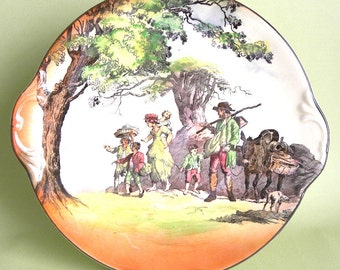 """Royal Doulton Series Ware Cake Under Plate """"Gleaners and Gypsies"""""""