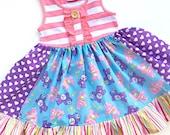 Carealot dress Custom Momi boutique pink momi girls dress