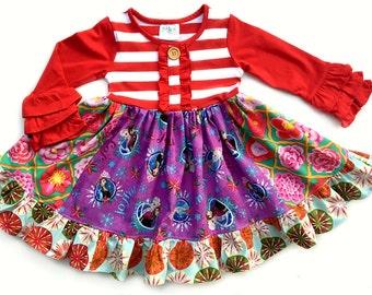 Frozen Disney on Ice Christmas dress Momi boutique girls disney dress