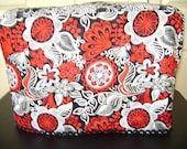 Sewing Machine Cover Standard Size In Black Red And White Fabric