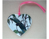 Dragonfly heart ornament,Dragonfly gift, dragonfly keepsake, dragonfly sweetheart, lucky dragonfly, wa state dragonfly,paper weight
