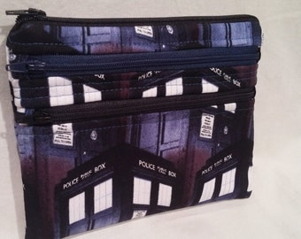 "Doctor Who ""bigger on the Inside"" notions pouch"