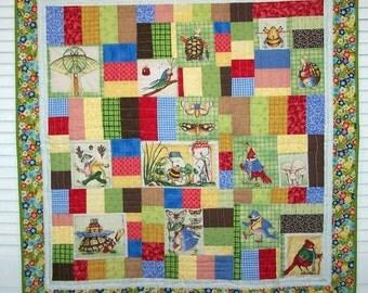 Woodland animal lap quilt