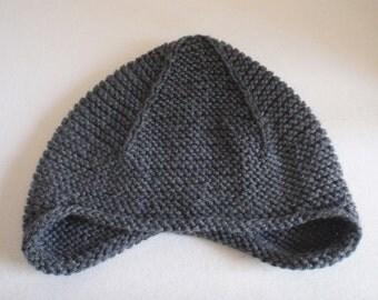 Adult Knit Hat- Grey Wool