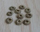 Antique Vintage Gold Metallic Lace Ring Trim Embellishments