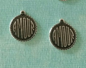 2 Silver Amour Charms 1940