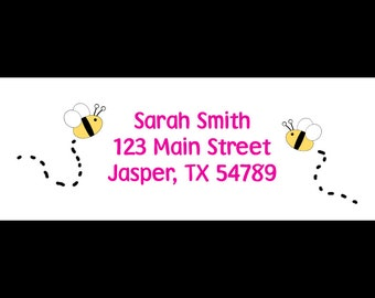 30 Return Address Labels - Bee -  Mommy-To-Bee - Bride-To-Bee -  COLOR can be customized