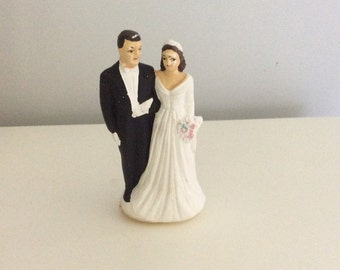 Vintage Bride snd Groom Wedding Cake Topper