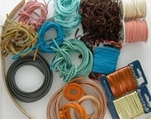 ON SALE! Leather Cord, Leather Craft Supply, Leather Lace, Leather Straps, Multicolor Leather, Metallic Leather Lace, Leather Lace Lot