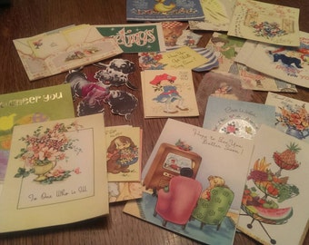 Vintage Greeting Card Lot of 25  Assorted Mostly Get Well  Some Other Greetings
