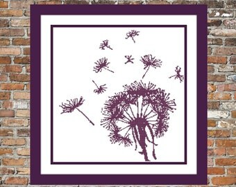Dandelion in the Wind - a Counted Cross Stitch Pattern