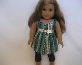 American Girl Doll Clothes - A Little Aztec Top with Jeggings - 18 Inch Doll