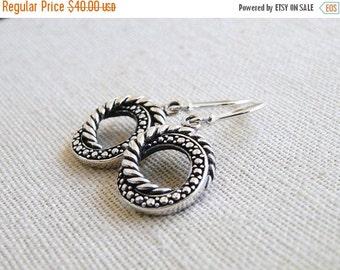 27% Off Sale Sterling Silver Bali Earrings SS8
