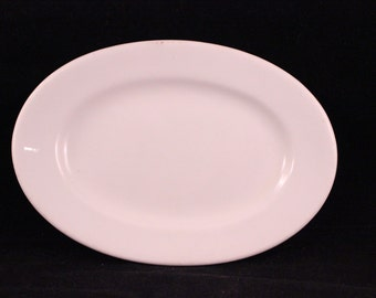 Small Antique Ironstone Oval Platter by GREENWOOD CHINA