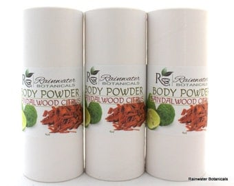 Sandalwood & Citrus natural body powder!