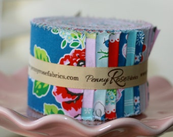 SALE 2.5 inch strips STRAWBERRY BISCUIT Jelly Roll fabric by Riley Blake Elea Lutz