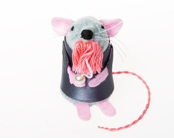 Ood Doctor Who Monster mouse ornament artisan felt rat hamster mice cute gift doctor who fan or Dr Who collector