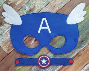 American Hero Felt Mask and Bracelet