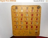 Valentines Day Sale Bingo Card Vintage Pla Mor Bingo Cards Red Slide Covers Numbered Bingo King Cards Made In The USA Wood Look Stitched, Am