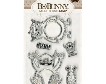 Bo Bunny Clear Acrylic Monster Stamps