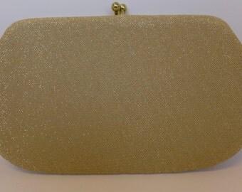 Vintage Gold Lurex Clutch Evening Purse
