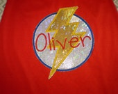 Superhero cape: lighnting bolt cape in primary colors, superhero party cape