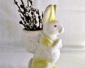 Easter Rabbit Antique Candy Container Vintage Large
