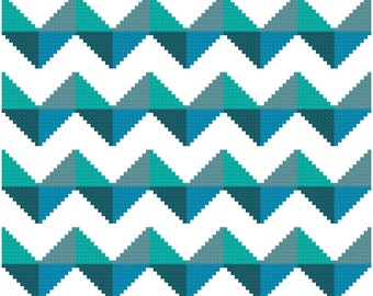 Chevron cross stitch pattern - instant download