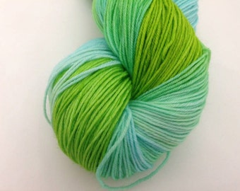 RTS - Silver Yarn - Lime & Ice